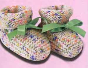 Вязание пинеток для новорожденных спмцами