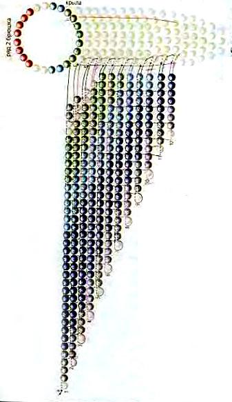 Ожерелье c колибри из бисера