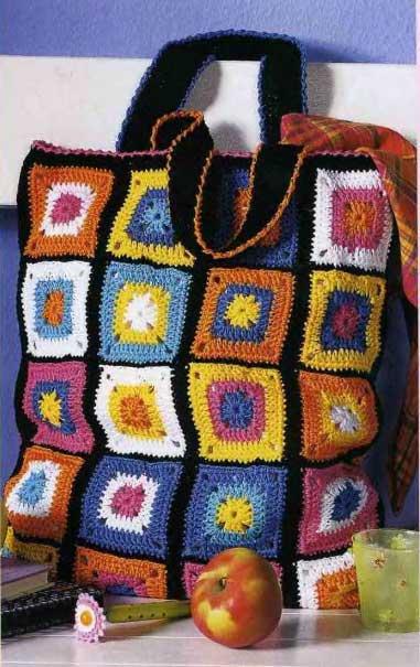 Женская сумка из разноцветных