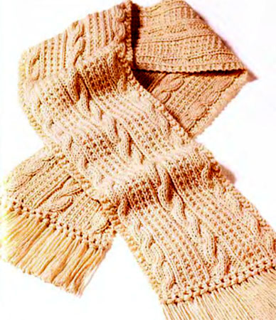 мужские шарфы спицами.