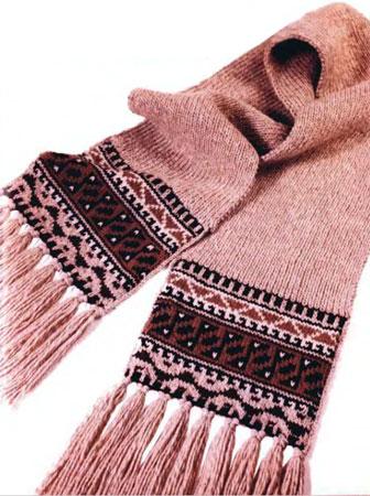 Узоры для вязания шарфа