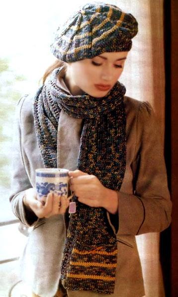 Берет и шарф «Модный акцент»