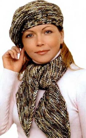 Берет с шарфом «Валентина»