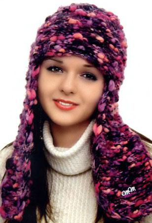 Подборка: шапочки, шарфы, сумки, связанные из толстой пряжи.