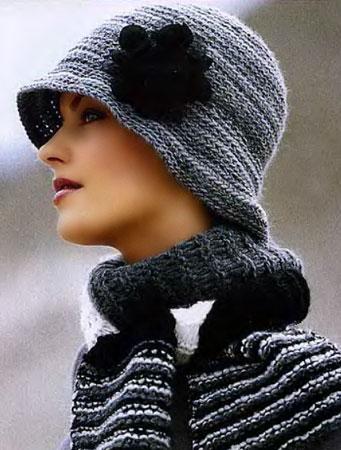 Шляпа и шарф. ВЯЗАНИЕ ШЛЯПЫ.
