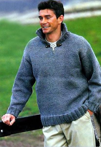 Имя: схема вязания крючком мужского свитера.