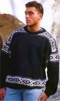 Для вязания пуловера вам потребуется: * около 450 г шерстяной пряжи черного цвета и... Распечатать Пуловер с...