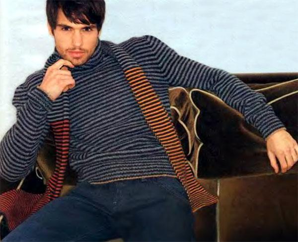 схема для вязания свитера с