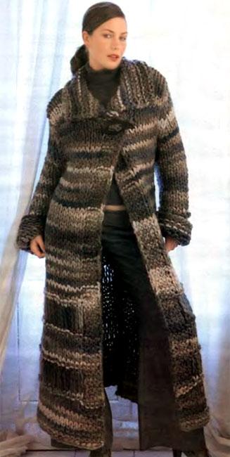 Если стоит только одно число, то оно относится к обоим размерам.  Для вязания пальто Вам потребуется...