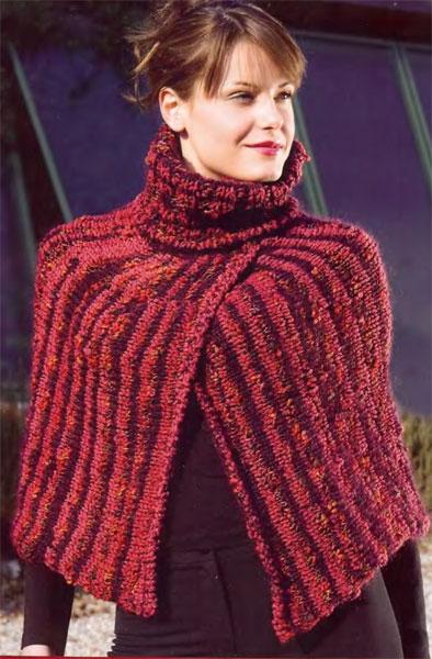 Для вязания накидки вам потребуется: * 500 г красной
