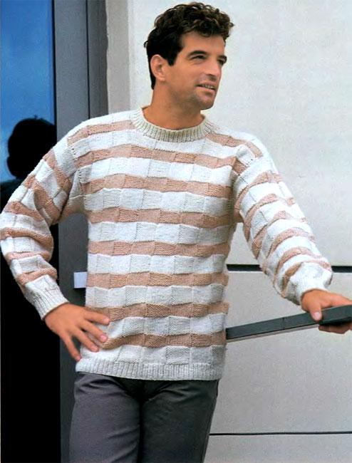 Скачать схему вязания свитер с меланжевой кокеткой бесплатно.