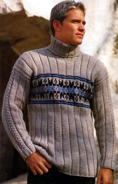Пуловер с орнаментом