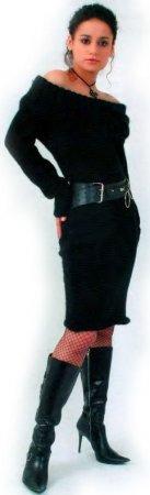 Черное платье из мохера