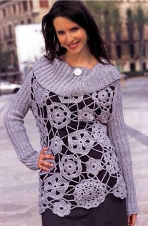 Кружевной пуловер