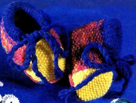 Разноцветные пинетки