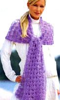 Картинка из рубрик: Схема для вязания шарфа спицы и крючок , Детская...