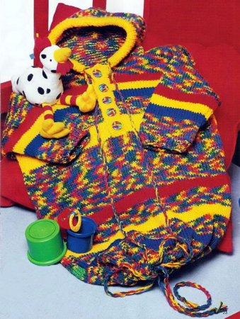 Вязаный спальный мешок