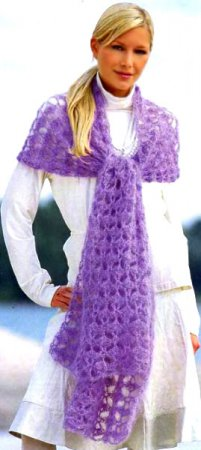 Чтобы что-то связать крючком ажурный шарф, не нужно настолько тщательно высчитывать петли, как при вязании на спицах...