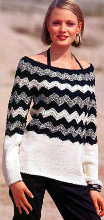 Черно белый пуловер