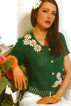 Вязание крючком модели блуза