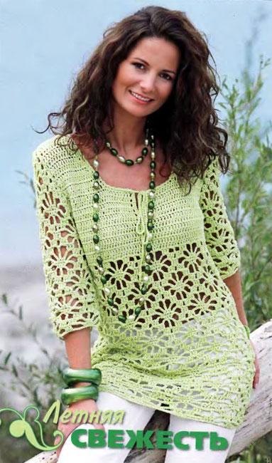вязание женский пуловер ажурный, вязание спицами узор паучок, связать красивый пуловер.