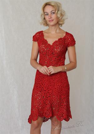 Платья - Вязание спицами и крючком. платье крючком схемы модели br.