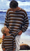 Пестрый мужской пуловер