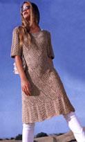 Платье с ажурными ромбами и каймой