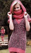 Вязание мини-платья и шарфа