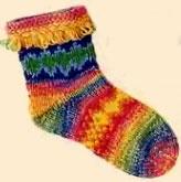 Жаккардовые носки с петельчатым краем