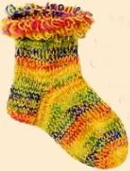 Меланжевые носки с петельчатым краем.
