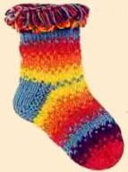 Разноцветные носки с петельчатым краем