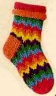 Жаккардовые носки.