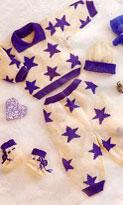 Комплект для малыша с синими звездами