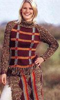Пуловер и набедренный платок