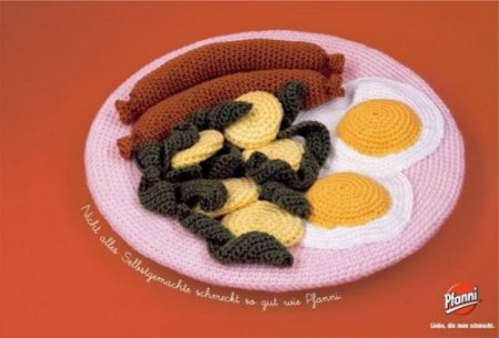 ещё несколько фото вязаной еды, найденных в интернете.
