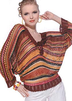 Вязание блузона