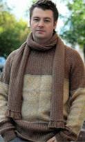 Мужской джемпер и шарф