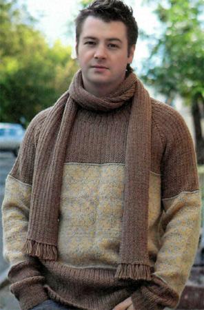 шарф спицами схемы - Сделай сам!