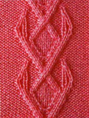 Листочек вязание на спицахна спицах схема.