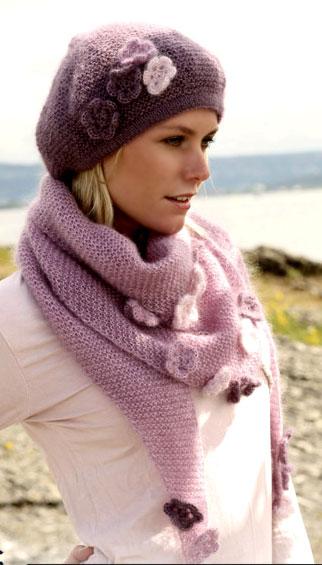 Вязание берета и шали
