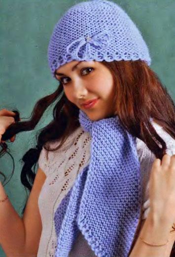Шапочка и шарф «Очарование»