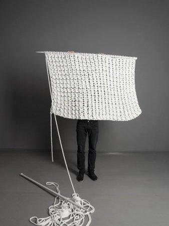 Вязаный гигантский ковер
