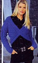 Пуловер со скрещенными частями переда