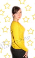Кофта желтая звезда