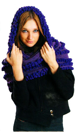 Осинка вязание шапка труба для женщин и схемы вышивки крестиком.