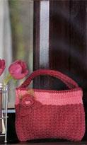 Вязание сумки с цветком