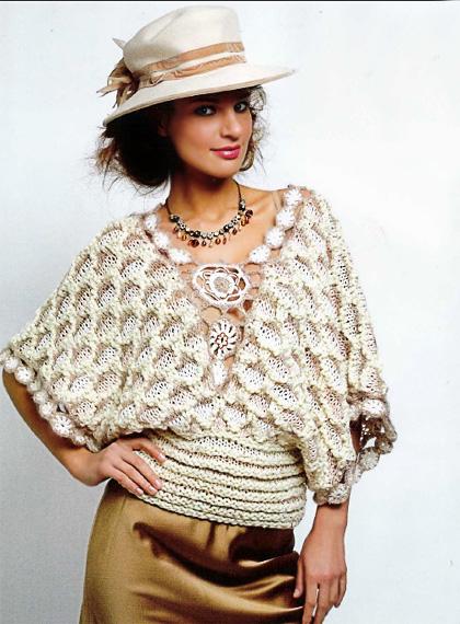 Нева: Вязание спицами женские свитера.  Вам потребуется: пряжа Anny Blatt.