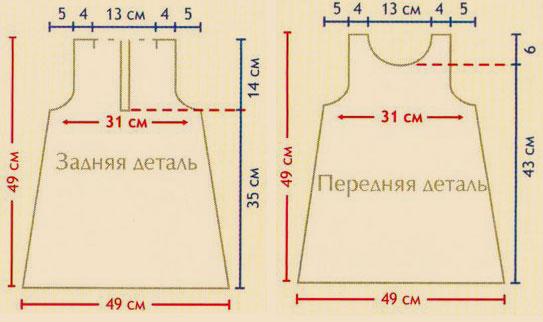 Схема вязания платья для девочки со схемой