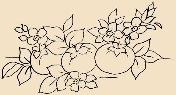 Голубые цветы - Схема для